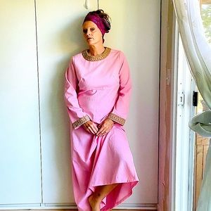 Vintage 60's  Gown, Formal, Prom, Pageant Pink L